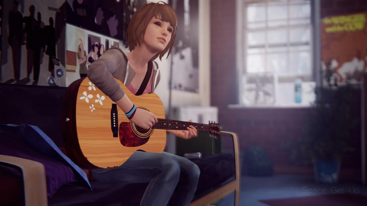Max and guitar