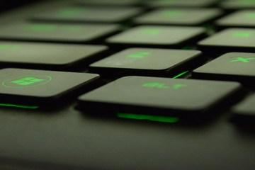 glowing keyboard