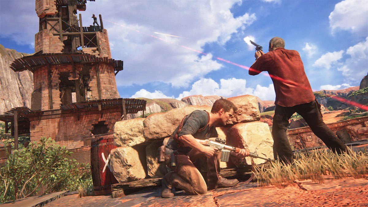 Uncharted gunfight