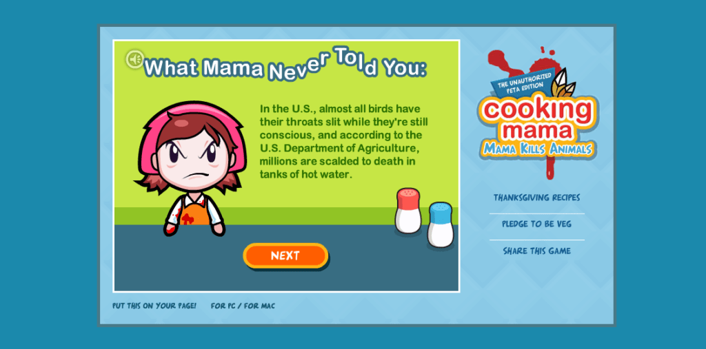 PETA Game Cooking Mama