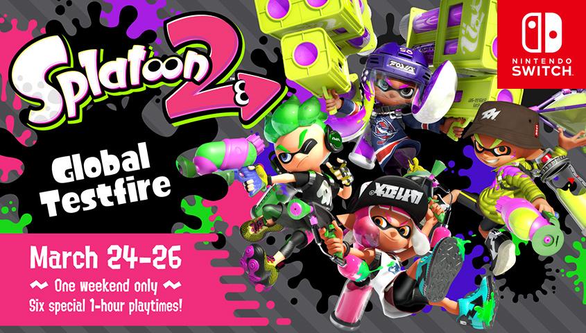 Splatoon 2 test on Nintendo Switch
