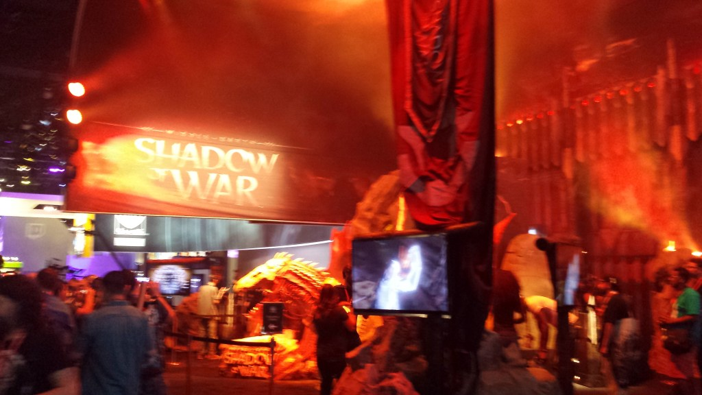 E3 2017 Shadow of War booth