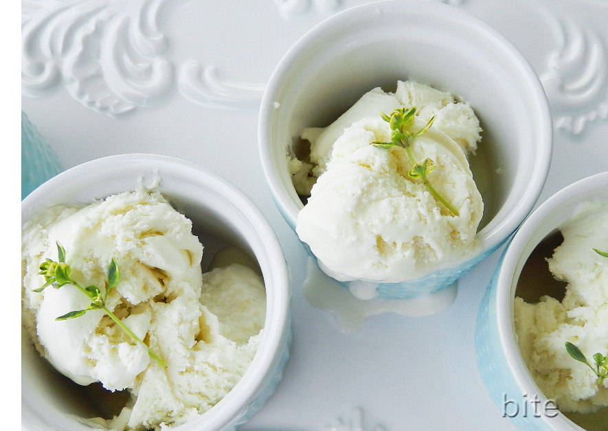 lemon thyme ice cream