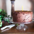 VANILLA LAYER CAKE WITH CHOCOLATE FROSTING - bitebymichelle.com