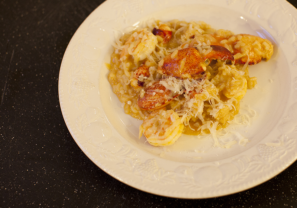 lobster risotto – break the rules and watch the magic happen