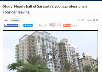 Study: Nearly half of Sarasota's young professionals consider leaving