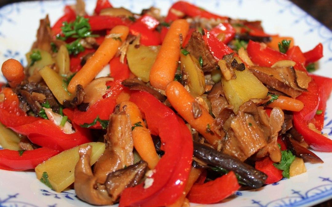 Oyster mushroom stir fry recipe
