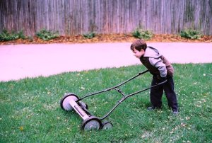 Reel Mower by Michael Newman at http://www.flickr.com/photos/mzn37/4001914227/