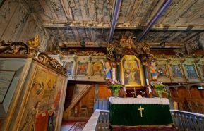 Njenu izgradu naredio je Jób Zmeškal 1688. godine, a oslikana je prelijepim slikama u 17. i 18. stoljeću. Glavni oltar je iz 18. stoljeća i tu je između ostalih kršten i slovački pjesnik Pavol Országh Hviezdoslav.