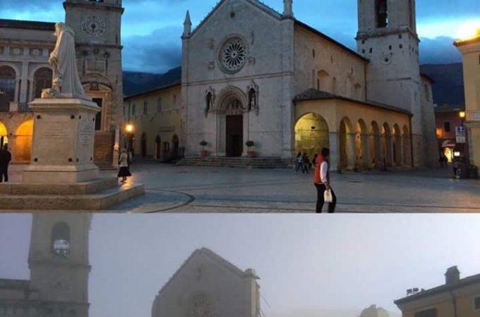 Srušena bazilika sv. Benedikta u Nursiji