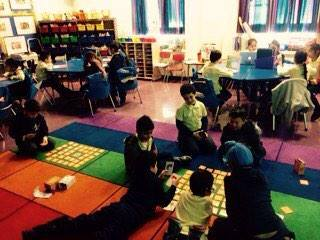 2nd graders in New York City learning computational thinking by having fun playing Bits and Bytes