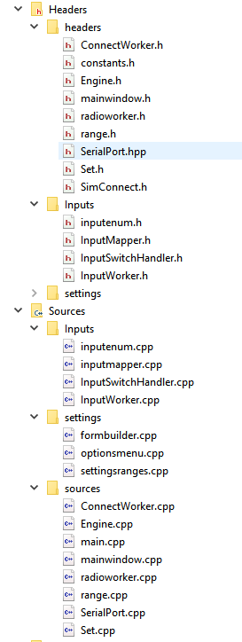 old file structure