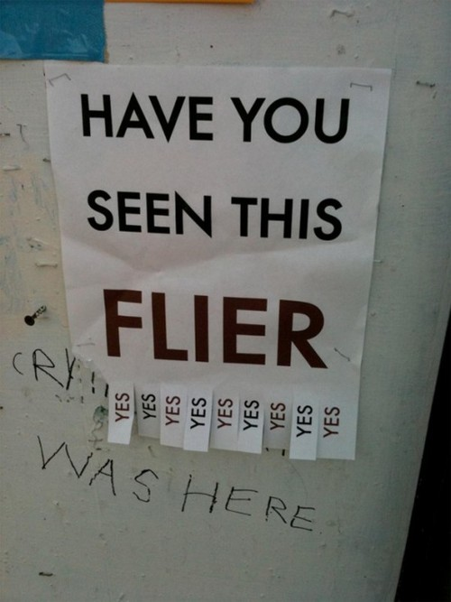 Seen flyer