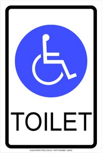 Handicapped toilet sign
