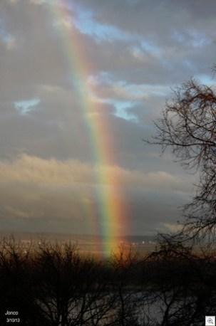 Rainbow over riverR