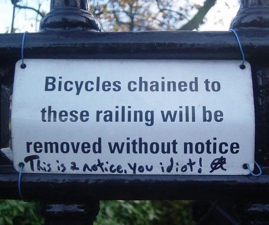 Please notice this notice