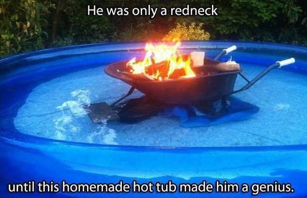 Homemade hot tub