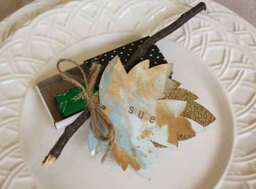 Paper Marblng Place Cards