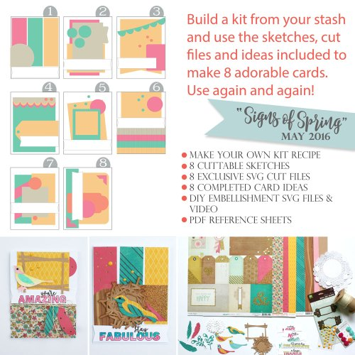 Use Your Scrapbook Stash to make your own cards. Card Sketch Cut Files
