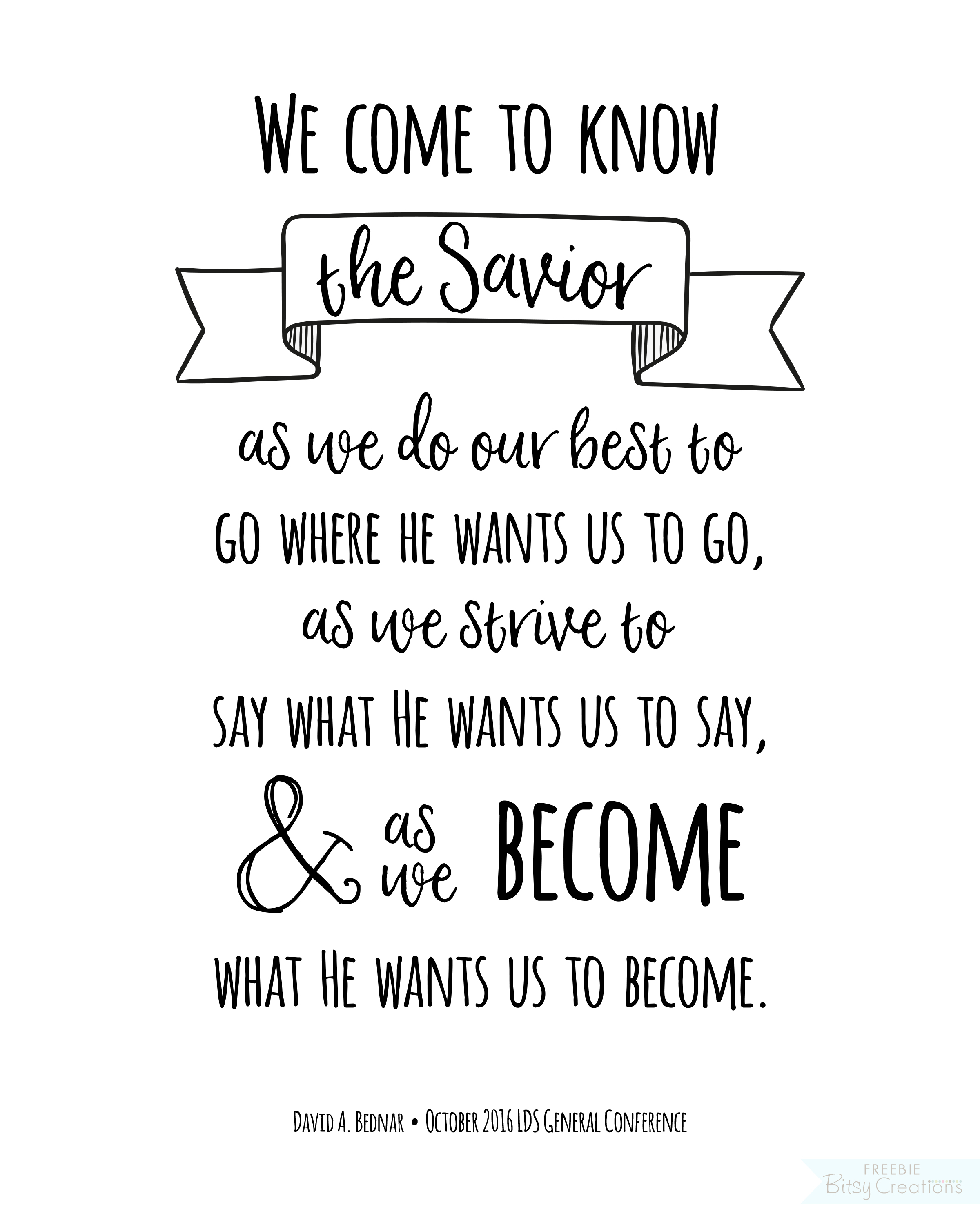 October General Conference Free Printables Quote Art From Lds General Conference