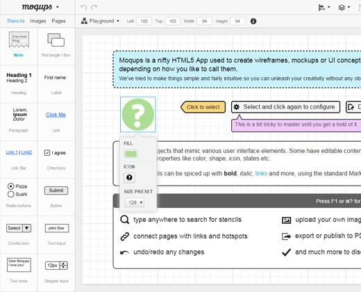 webapp moqups wireframe tool