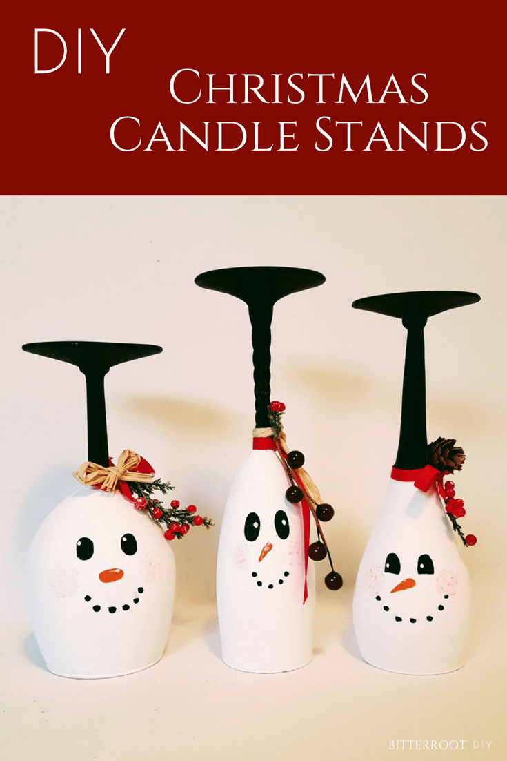 Snowman Crafts - Christmas Candle Stands