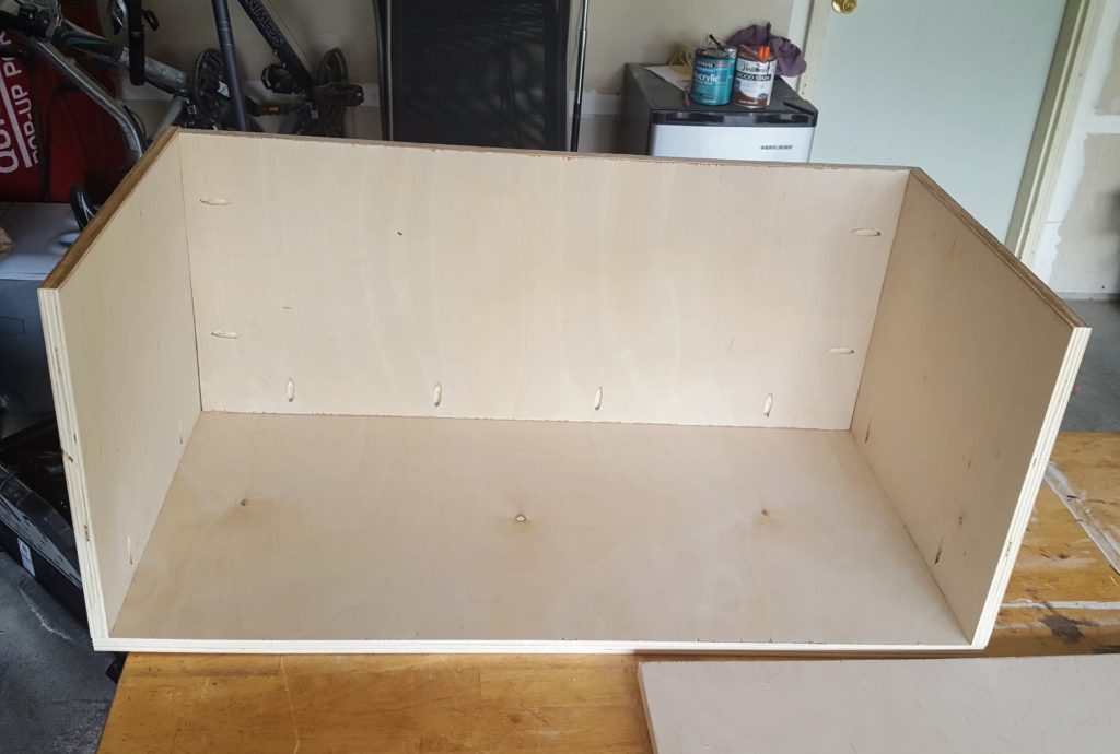 DIY Storage Chest Step 2a