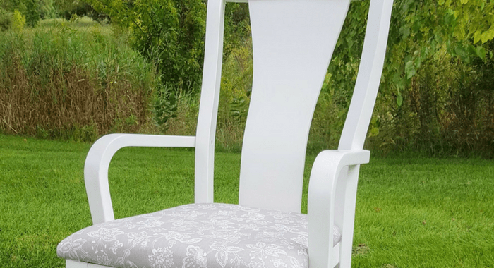 how to refinish a dining chair