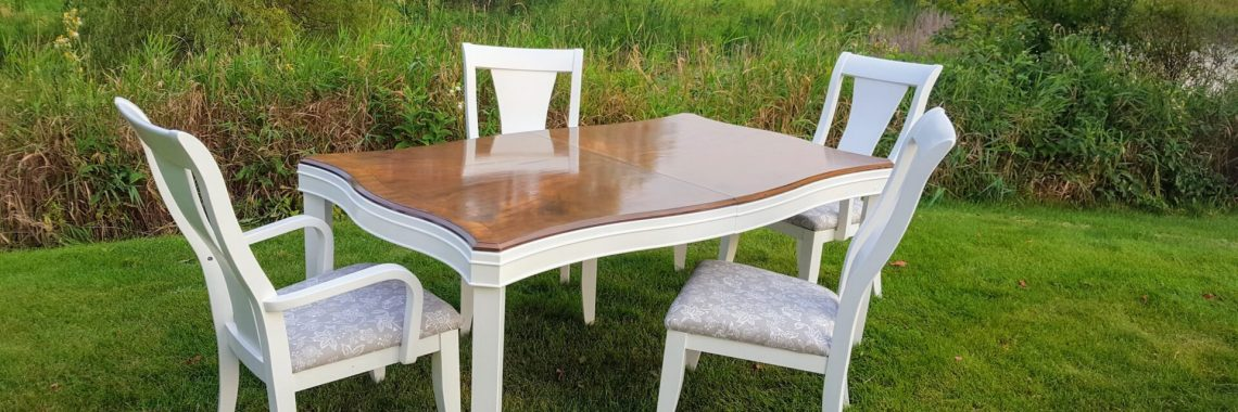 how to refinish a dining room table