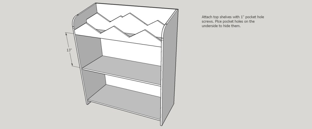 DIY Mountain Bookshelf with Toy Storage