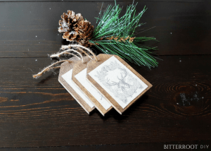 Christmas Gift Wrapping - DIY Wood Gift Tags