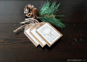 Christmas Gift Wrapping - DIY Wood Gift Tags