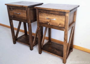 Simple One Drawer DIY Nightstand