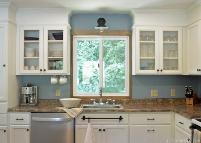 how to install a sconce light above the kitchen sink