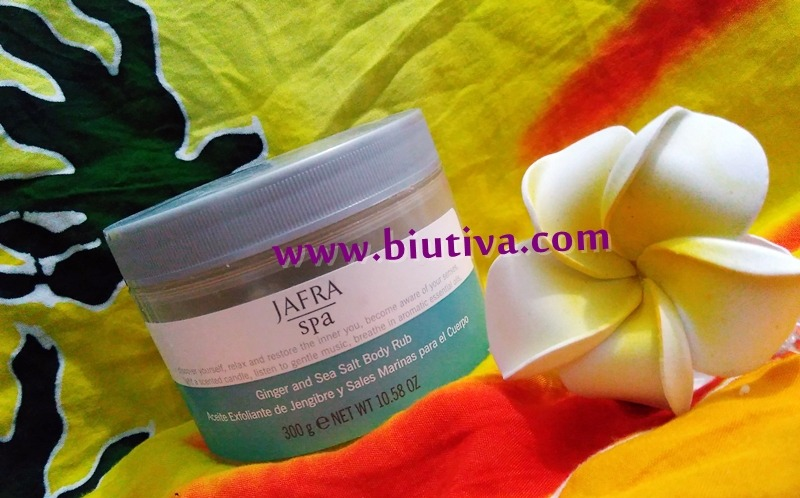 Jafra Ginger and Sea Salt Body Rub_biutiva