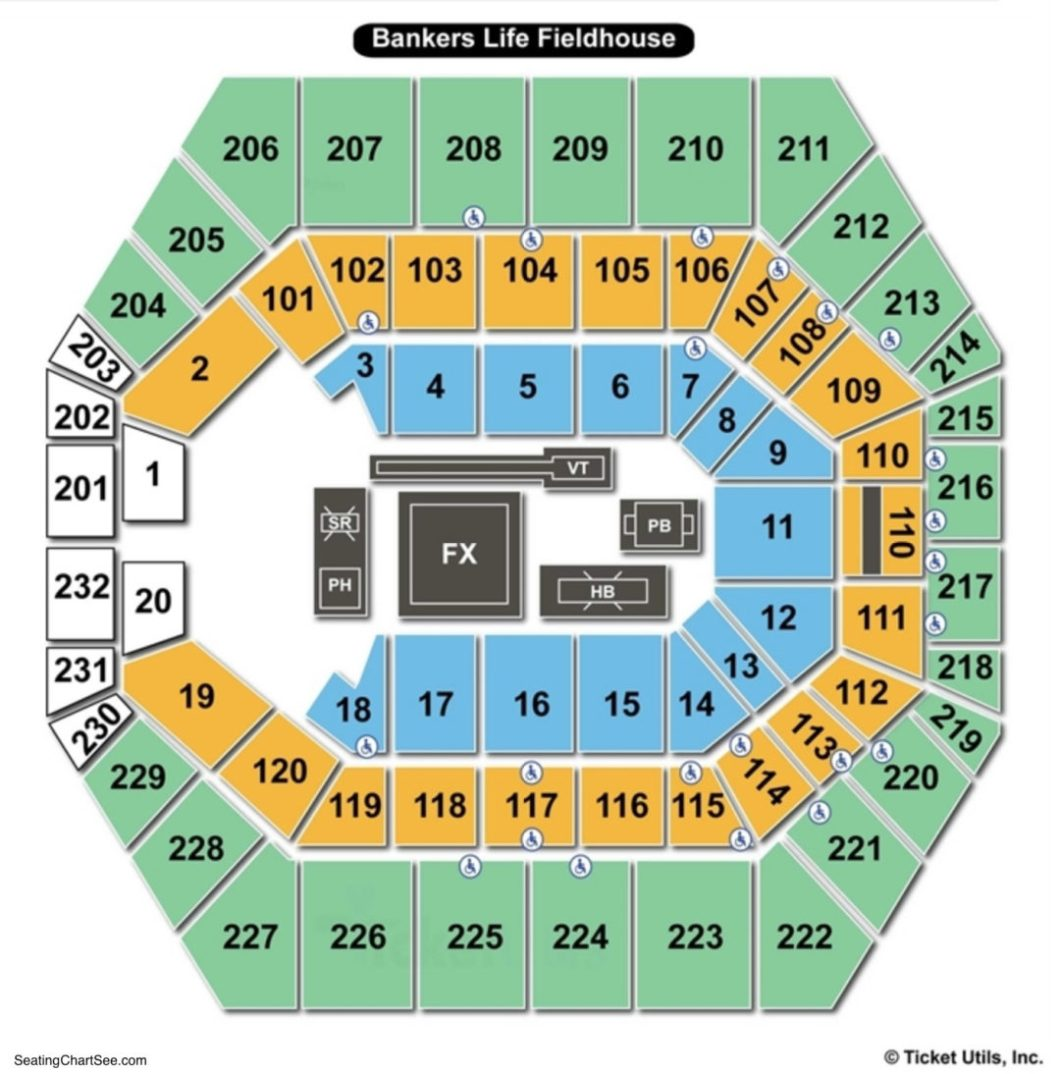 Seating Bankers Life Fieldhouse Wallseatco