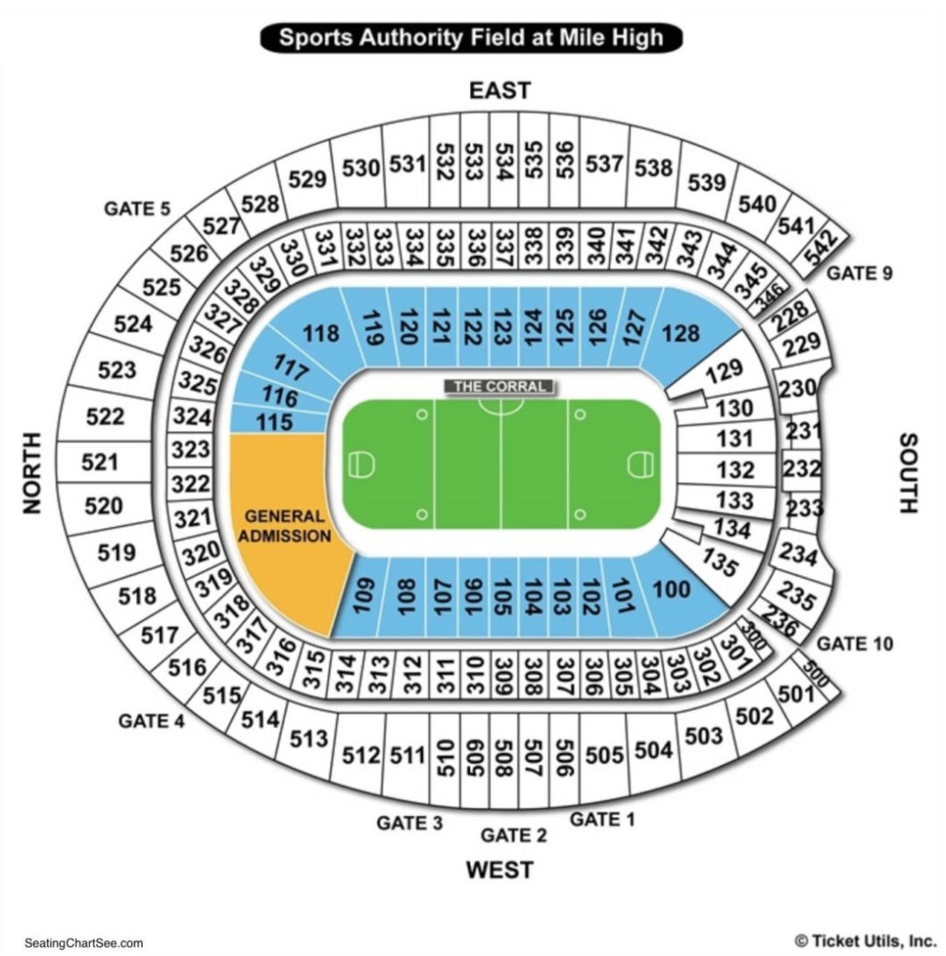 Invesco Field Seating Chart Wallseatco
