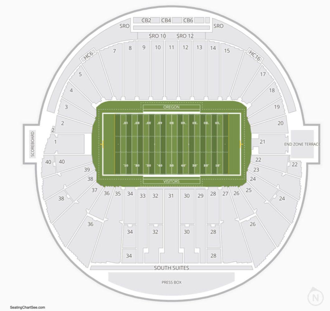 Autzen Stadium Seating Capacity Wallseatco