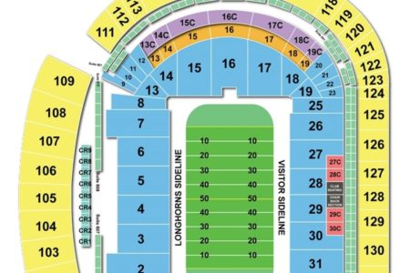 Dkr texas memorial stadium seating chart path decorations pictures