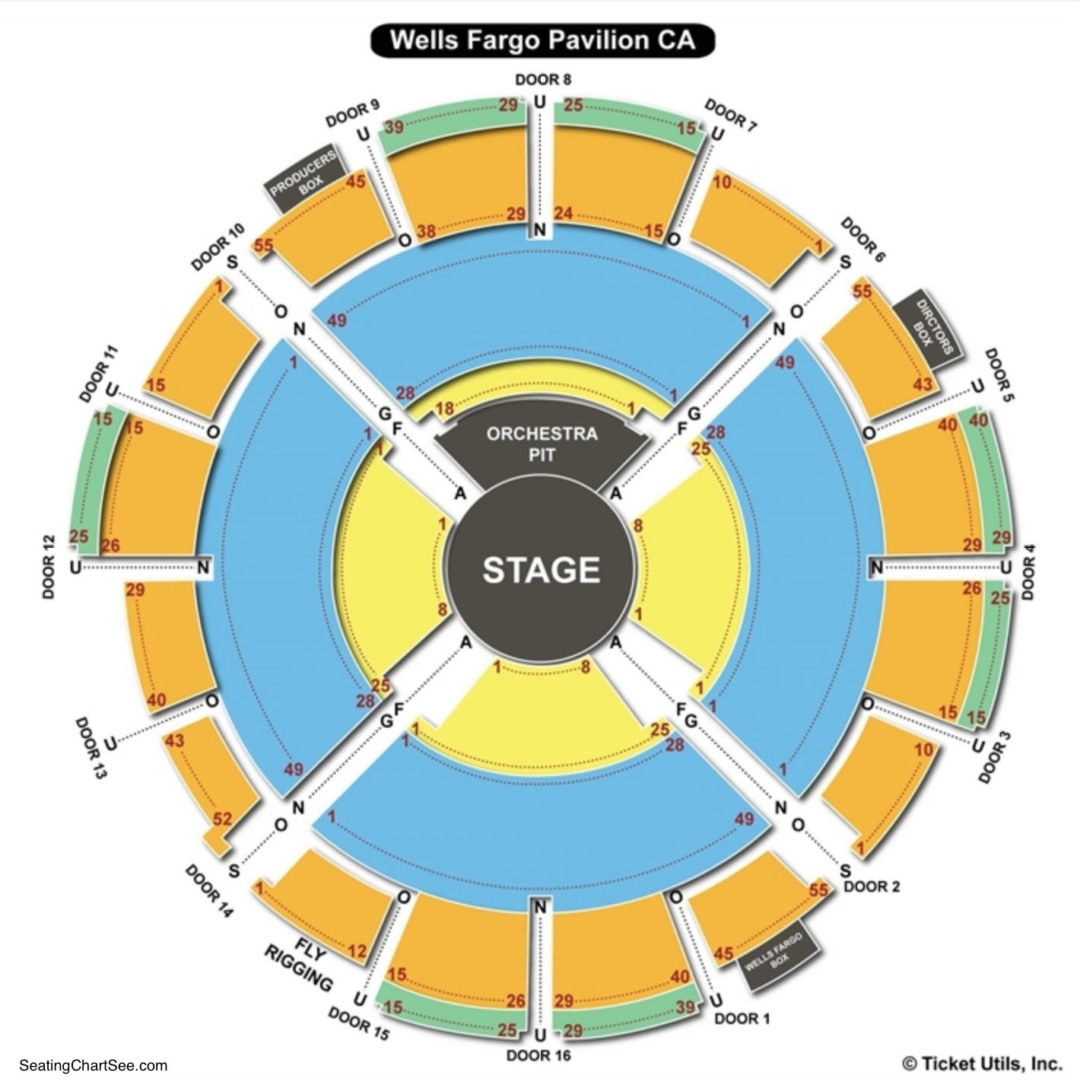 Wells Fargo Seating Capacity