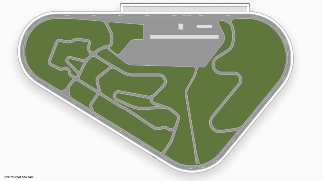 Pocono Raceway Seating Chart Detailed Wallseatco