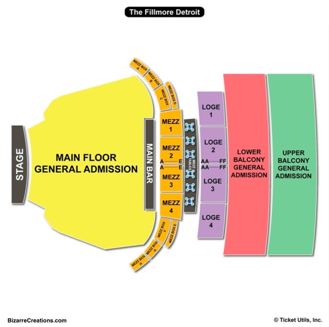 Fillmore Detroit Seating Chart