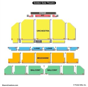 Golden Gate Theatre Seating Chart | Seating Charts & Tickets