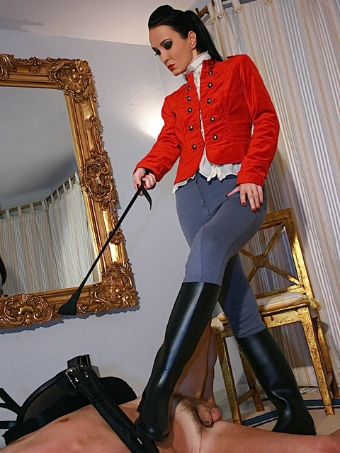 Cruel Fetish Liza in Riding Outfit Trains and Disciplines Her Pony