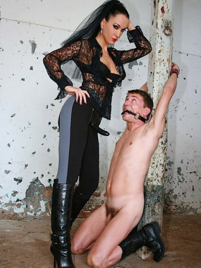Fetish Liza Trashes and Dominates a humiliated slave