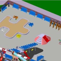 """Locul de joacă cu """"avioane"""" al Aerotec din parcul central nu prea este pe gustul braşovenilor"""