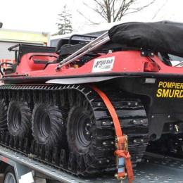 Autoșeniletă din bani europeni pentru intervențiile în zone montane ale pompierilor brașoveni