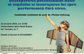 Eveniment: Cum să descoperi potențialul nativ al copilului și cum să îl încurajezi spre performanță fără stres?