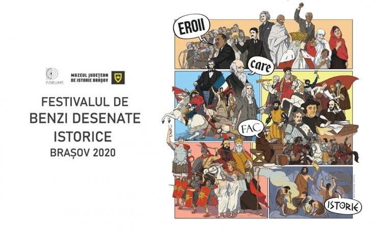Premii în valoare de 1.000 de lei pentru cei șase câștigători ai Festivalului de Benzi Desenate Istorice Brașov 2020. Lucrările pot fi trimise până pe 4 decembrie