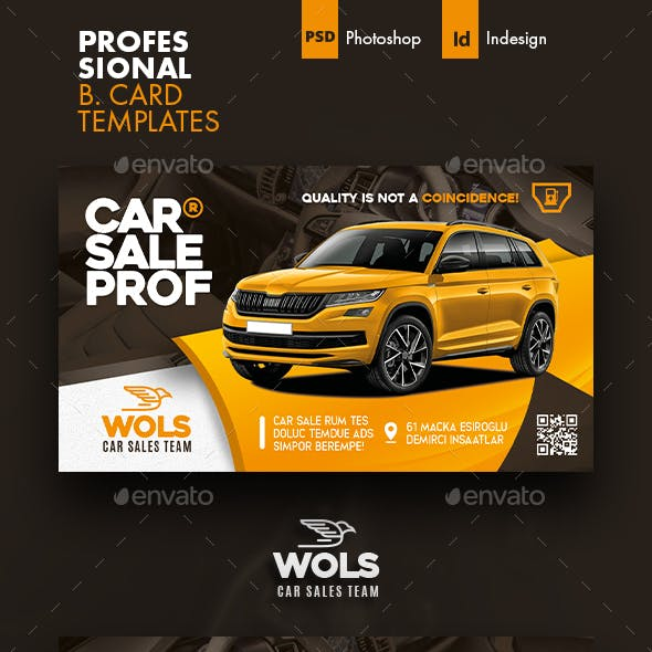 Car Sales Business Card Templates Free Download
